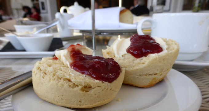 Part of Royal Hotel's exquisite Afternoon Tea