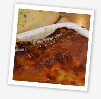 Burnt lasagne