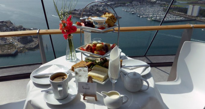 High tea at Spinnaker Tower
