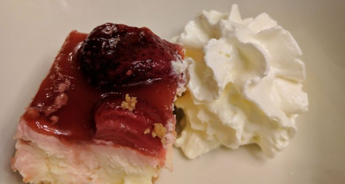 Clotted cream and strawberry cheesecake