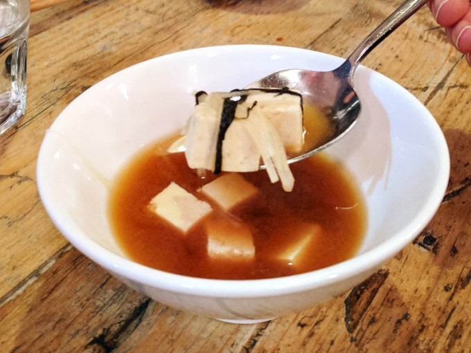 Miso soup with firm tofu