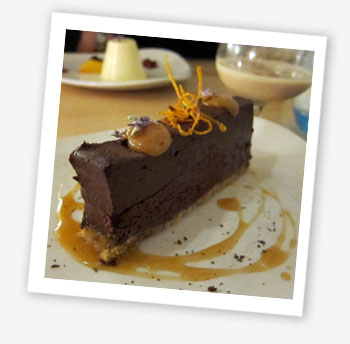 Three Buoys, Appley: chocolate and salted caramel torte
