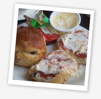 Cream tea, Watchouse Barn, Cowes