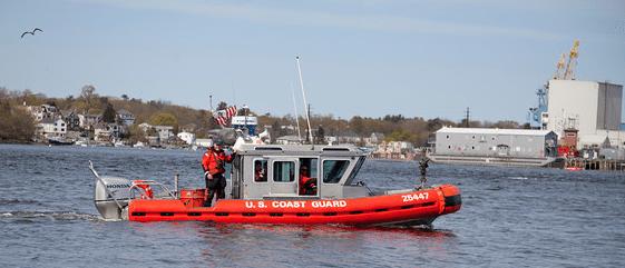 Escort by US Coast Guard
