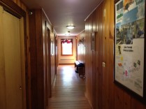 A hallway in the lodge