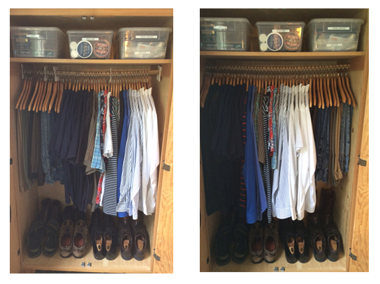 lighter clothes closet
