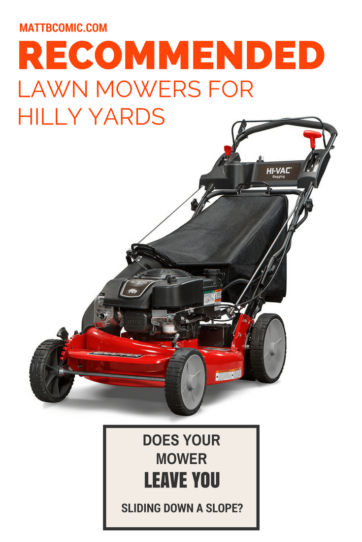 Lawn Mowers For Hilly Yards