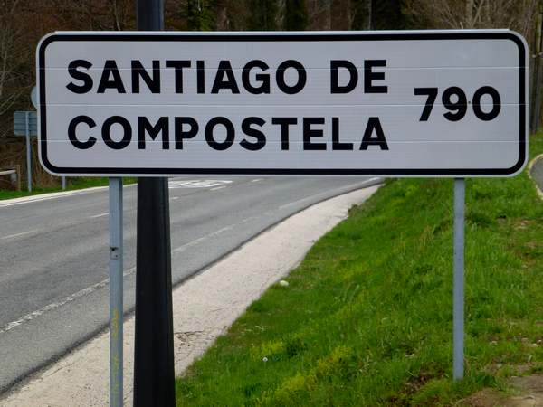 790 km to Santiago de Compostela. Roncesvalles