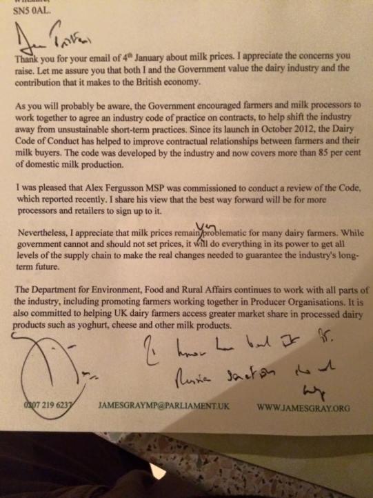 MP's letter