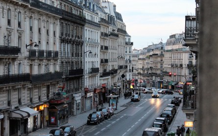 View from our hotel along Rue Monge.