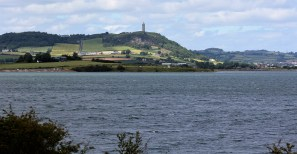 Strangford Lough, with Scrabo Tower on the hilltop