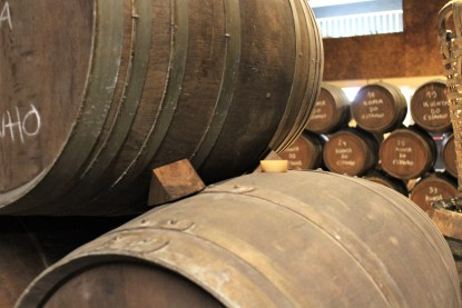 Inside the barrel house at Porto Augusto, where port can be kept for 40 years or more.