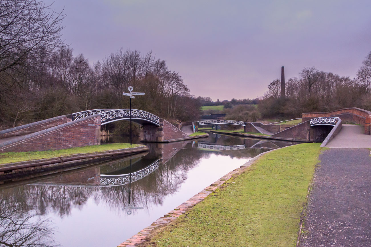 Cast iron canal bridges in The Black Country