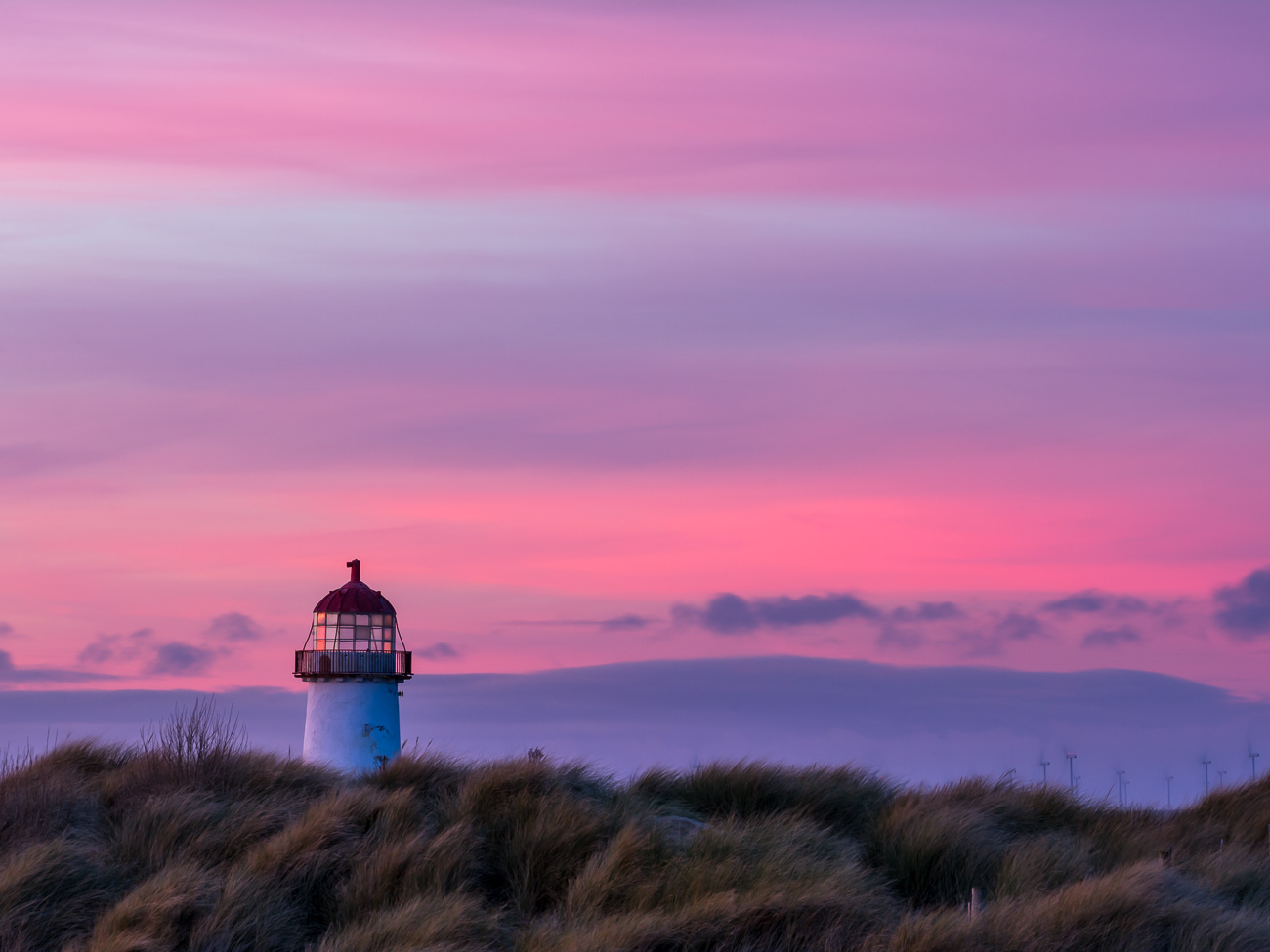 Point of Ayr Lighthouse at Sunset
