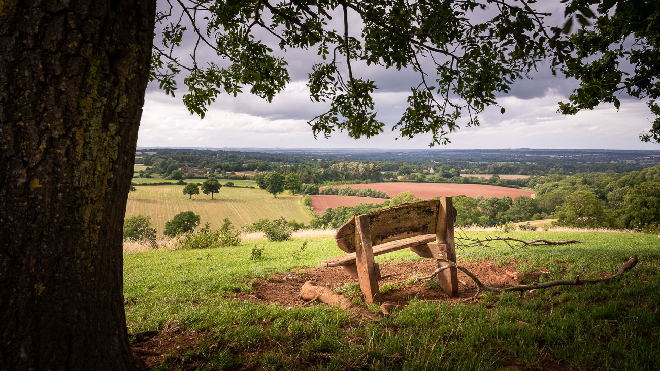 A bench with a view - Enville Sheepwalks