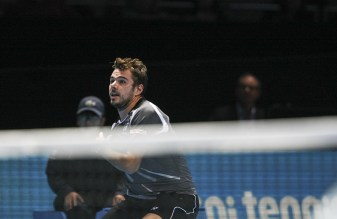 Stanislas Wawrinka at the net