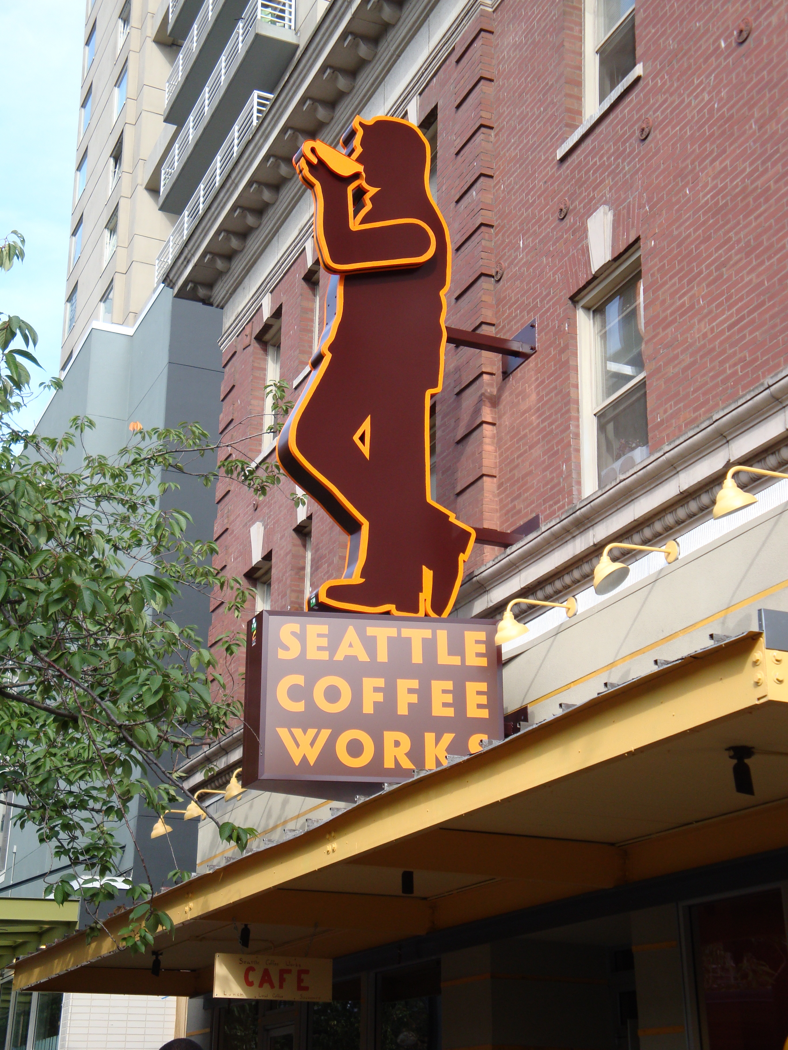 Seattle Coffee Works - the arm actually moves up and down!