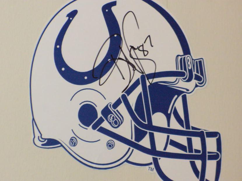 Reggie Wayne autograph Colts Super Bowl Champs