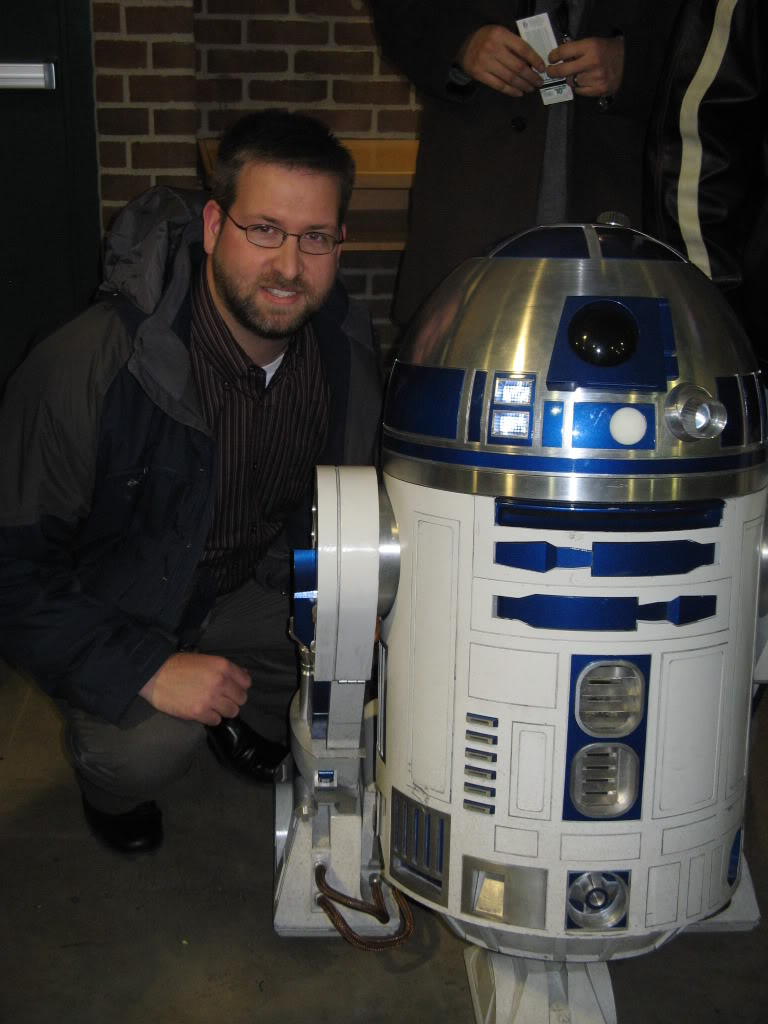 Kevin and R2-D2 at Star Wars in Concert