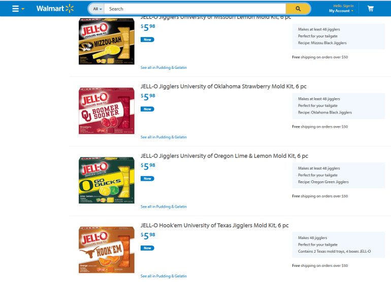 Walmart #TeamJello screenshot