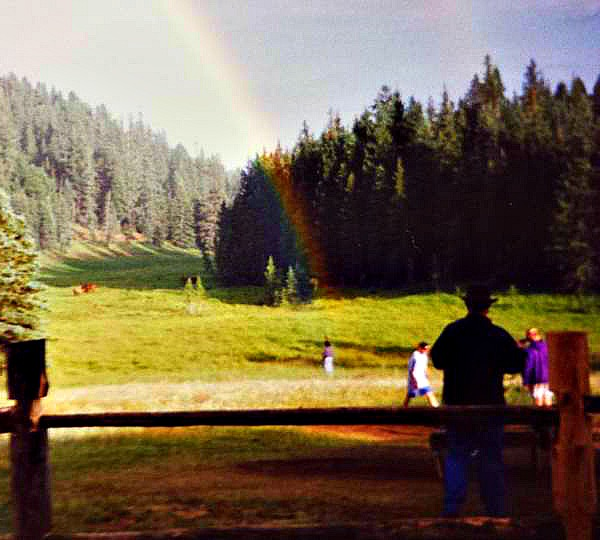 End of the Rainbow at the Beaubien Meadow at Philmont Scout Ranch