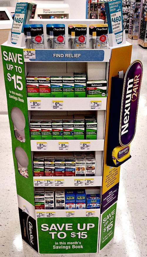 Walgreens #HealthySavings Display