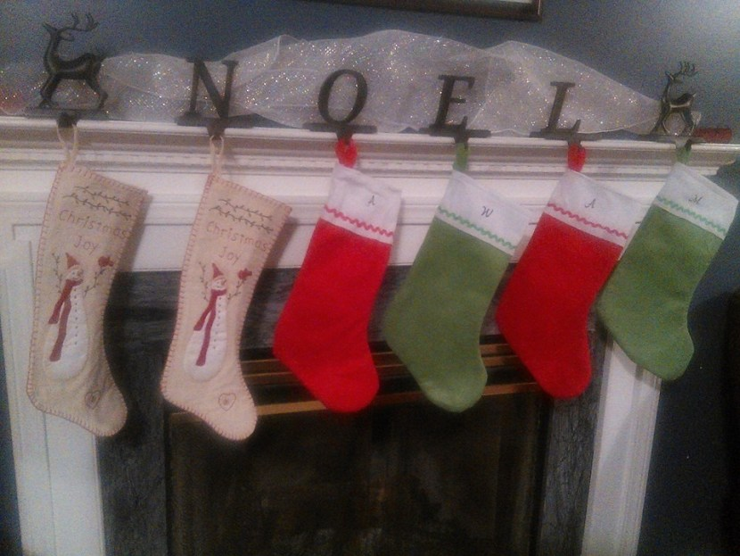 Six Family Christmas Stockings