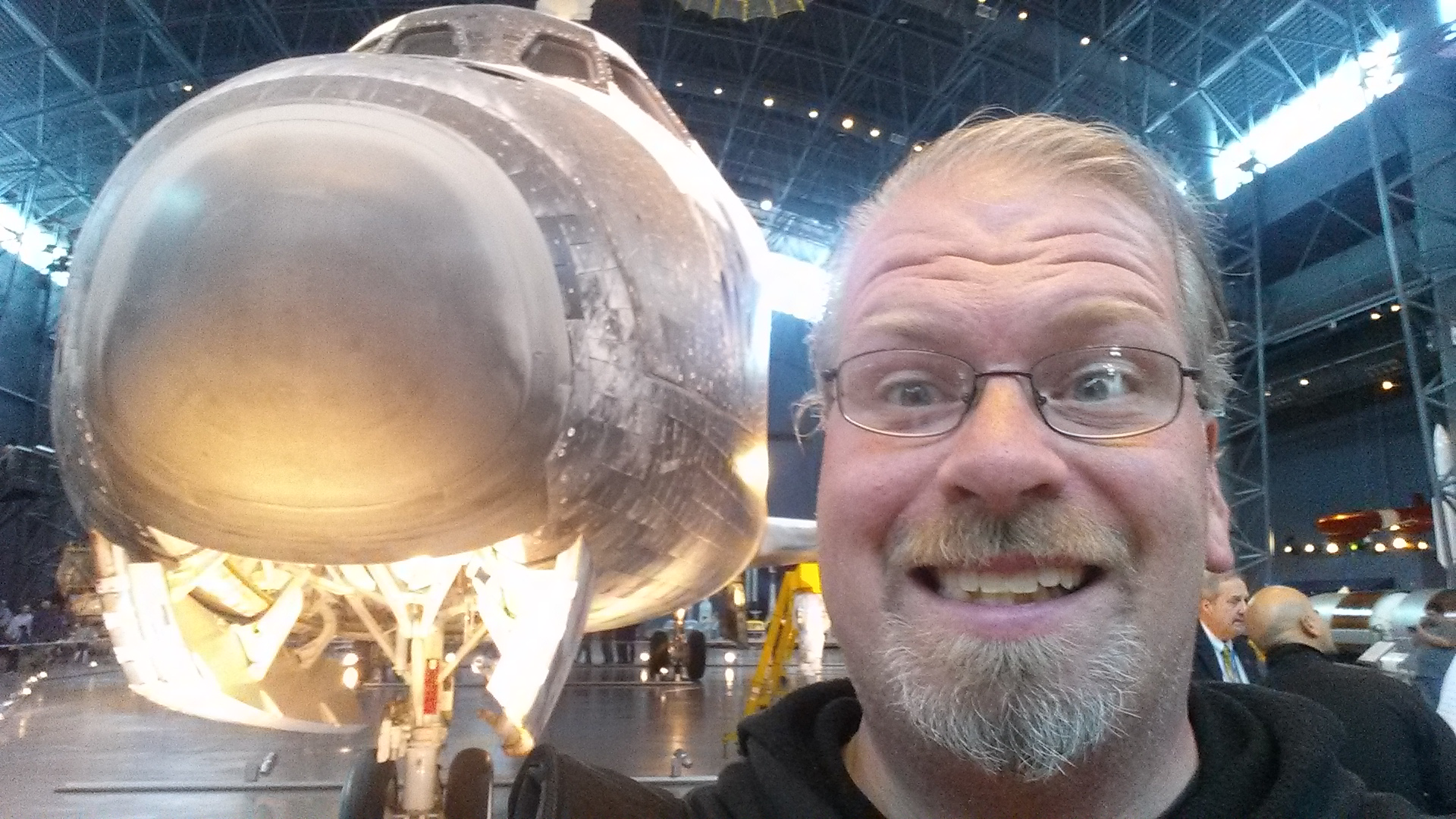 Me and the Space Shuttle Discovery at the Smithsonian Air and Space Museum in Washington DC