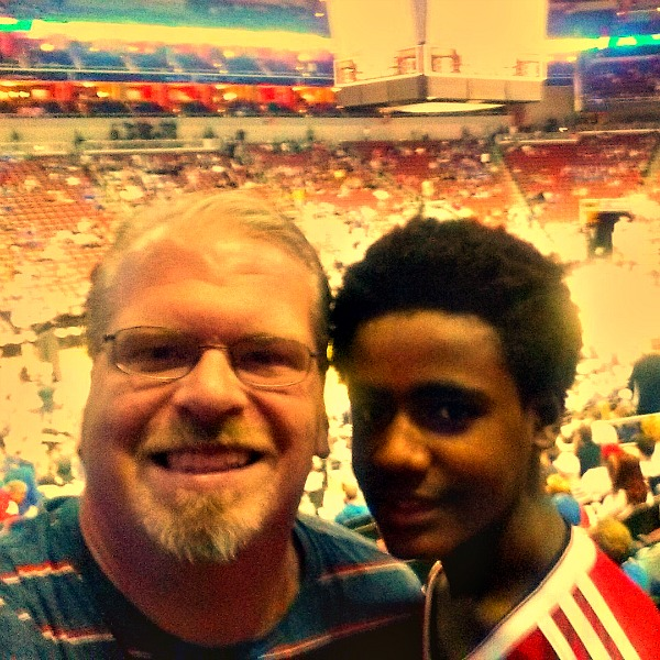 With Weldu at Elite Eight game