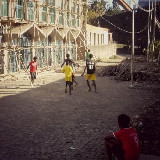 Street Soccer Game in Addis #AtoZChallenge #AtoZChallenge2016