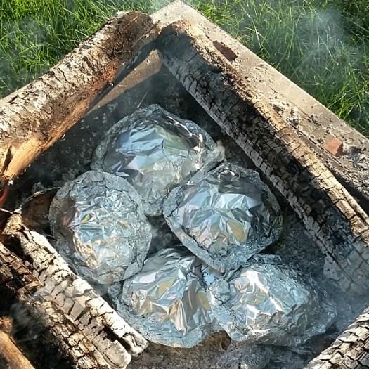 Baking on the hot coals [AD] #KingOfFlavor