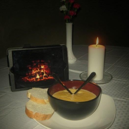 Steakhouse table setting at home #KingOfSoup #ad