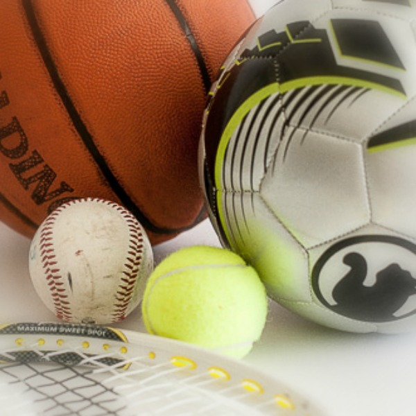 baseball tennis ball basketball tennis racket soccer ball
