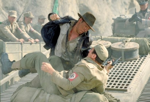 Indiana Jones punching a Nazi, much like many people want to do after Charlottesville