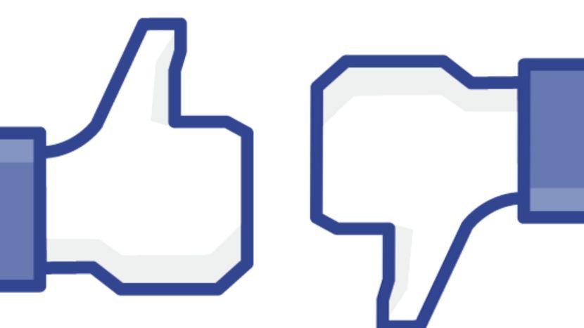 Facebook like and dislike thumbs
