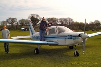 G-GFCB the PA28 I did most of my hour building in