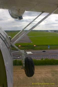 Coming in to land at Duxford in the Catalina