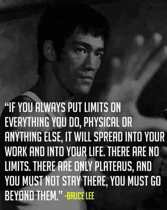 Bruce Lee Limits Quote