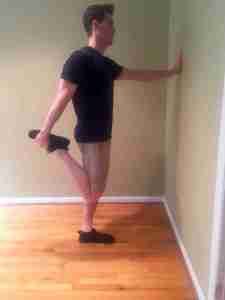 Standing Couch Stretch Position