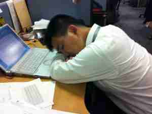 My Colleague is very overworked by hiroo yamagata is licensed under CC BY SA 2.0