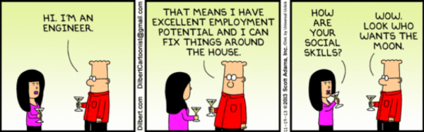 Dilbert Engineer Social Skills cartoon