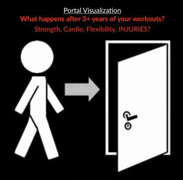 Stickman Walking Through Door With Text