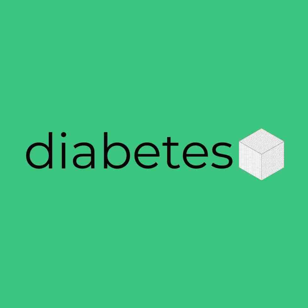 diabetes with sugar cube