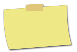 blank rectangular sticky note