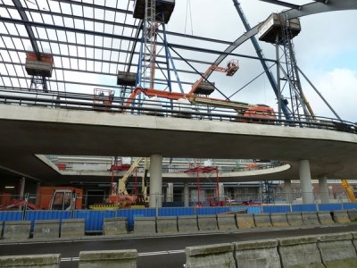 Centraal Station construction