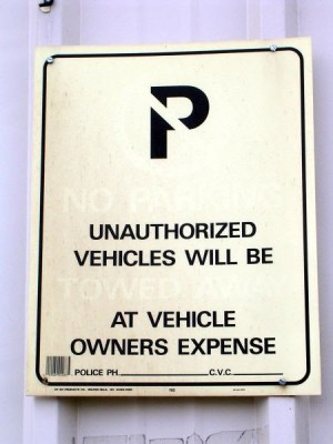 non-specific signage