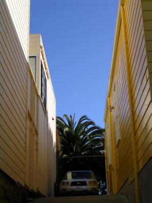yellow driveway