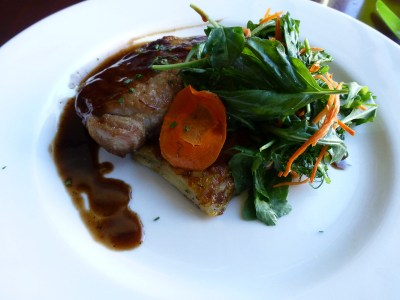 Pan seared pork loin at Company