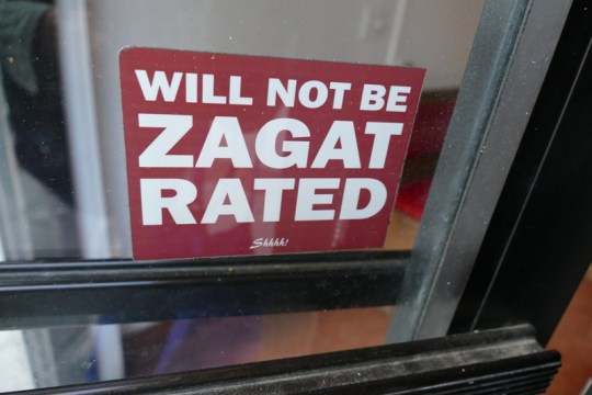 Will Not Be Zagat Rated