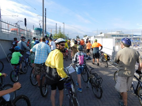 Bridge Pedal jam leading to Tilikum Crossing